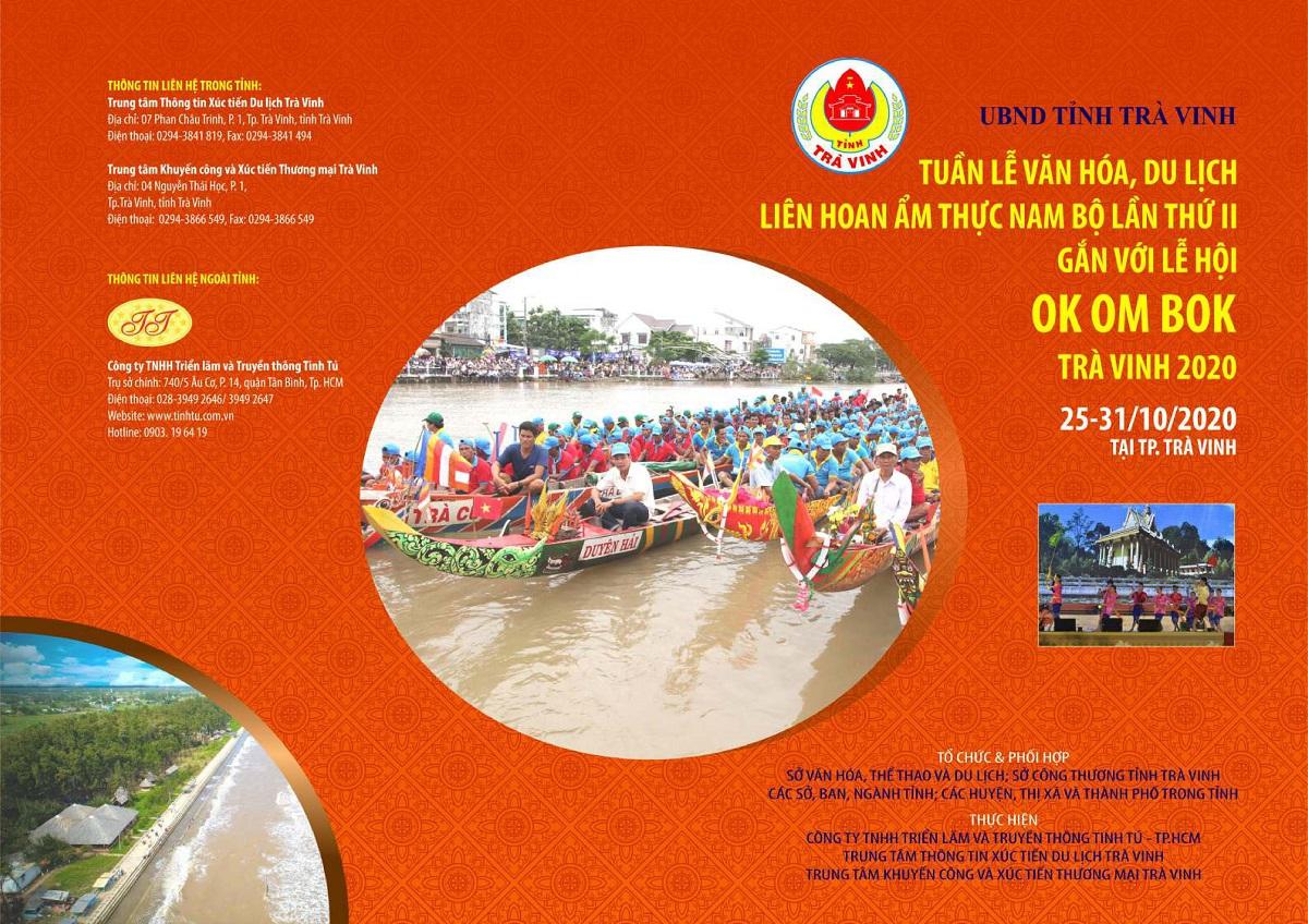 """Thư mời tham gia """"Hôị  chợ gắn với Lễ hội Ok-Om-Bok tỉnh Trà Vinh năm 2020"""